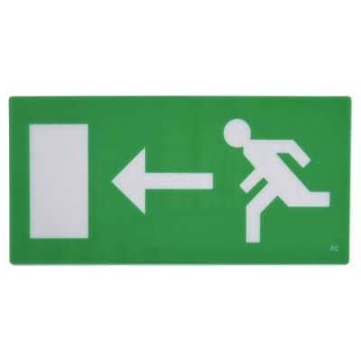 Emergency Exit Sign - Left Arrow - Legend)