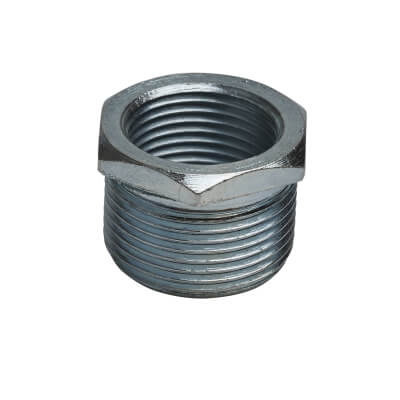 Steel Conduit Reducer 25mm to 20mm - Zinc Plated)