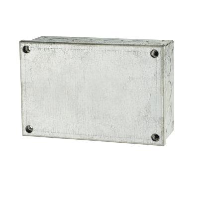 Adaptable Back Box - 6 x 4 x 2 Inch - Galvanised