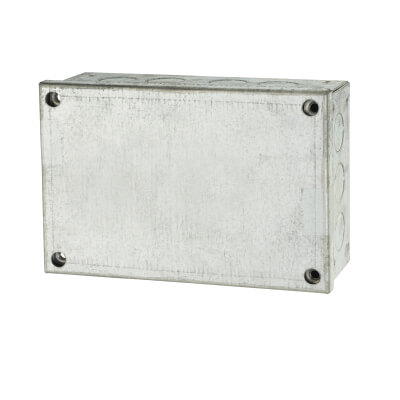 Adaptable Back Box with Knockouts- 54mm - Galvanised)