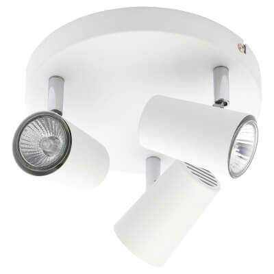 Forum Harvey 3 Light Ceiling Spotlight - White)