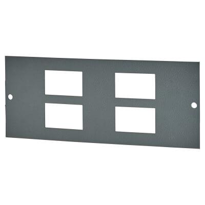 Tass 4 Gang RJ45 Commercial Floor Box Data Plate