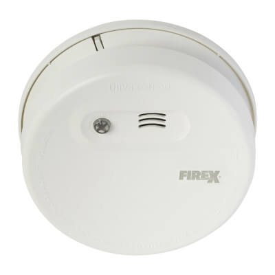 Firex Mains Ionisation Smoke Alarm with Battery Back Up)