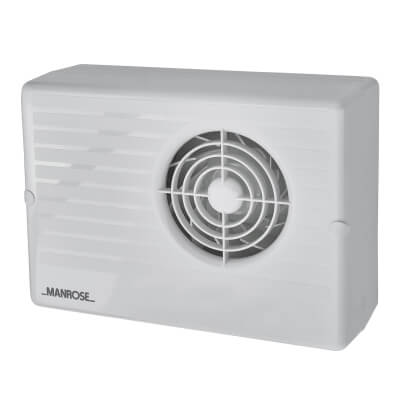 Manrose CF200P 4 Inch Centrifugal Extractor Fan with Pullcord)