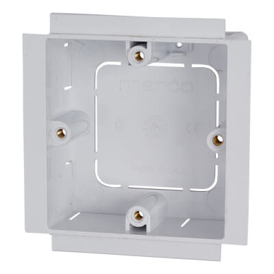 Marco 1 Gang 4 Pillar Outlet Box - 28mm
