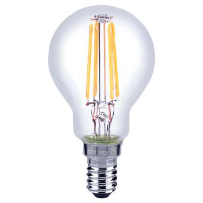 Integral LED 3.5W Mini Globe Dimmable Filament Lamp - E14 - 2700K )