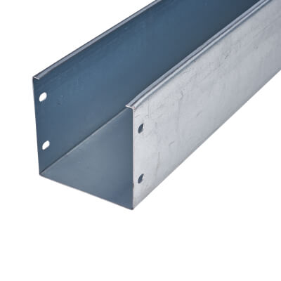 Steel Trunking - 100 x 100 x 3000mm - Galvanised)