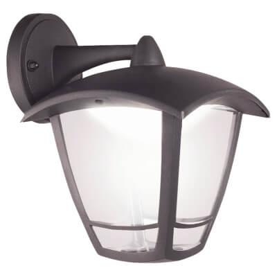 Luceco 8W LED Coach Lantern Top Arm - 4000K - Black)