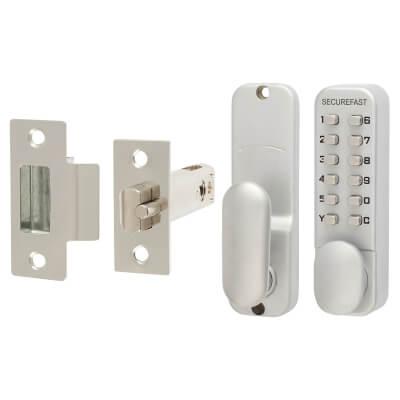 Easy Code Change Mechanical Code Lock - Knob - Stainless Steel)
