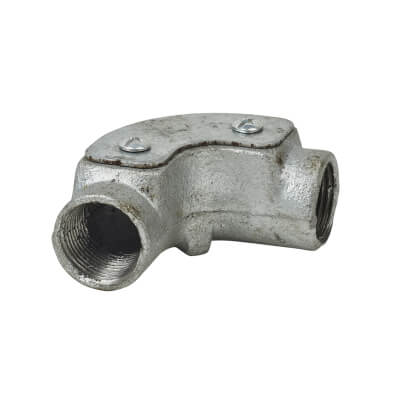 Steel Conduit Inspection Elbow - 20mm - Galvanised)
