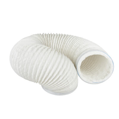 Manrose 6 Inch PVC Flexible Ducting - 3m - White)