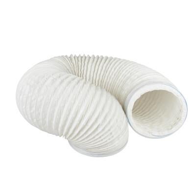 3000mm PVC Flexible Ducting - 6 Inch - White)