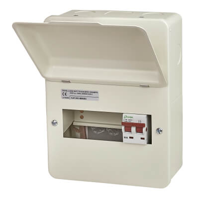 Danson 80A Metal Consumer Unit - 6 Way Main Switch