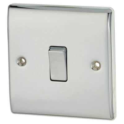 BG 10A 1 Gang 2 Way Switch - Polished Chrome)