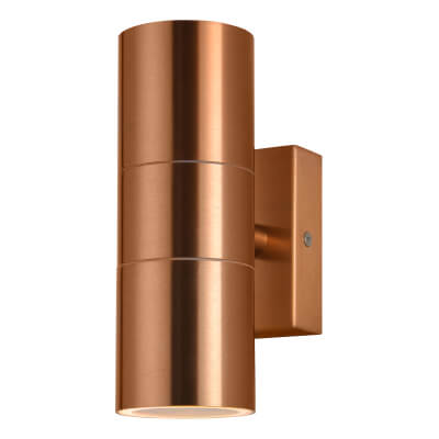 Zinc Leto Up/Down Indoor/Outdoor Light - Copper Colour)