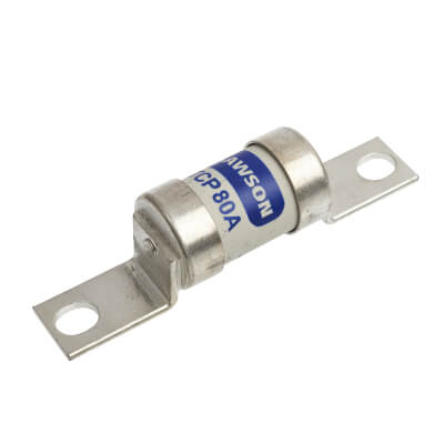 Lawson 80A 400/415V TCP Offset Tag Industrial Fuse-Links with Bolt Connections