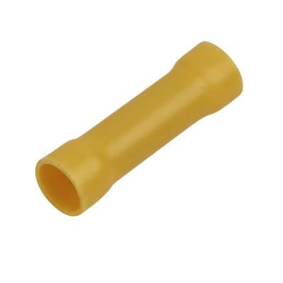 Crimp Insulator Butt - 6.5mm - Yellow - Pack 50)