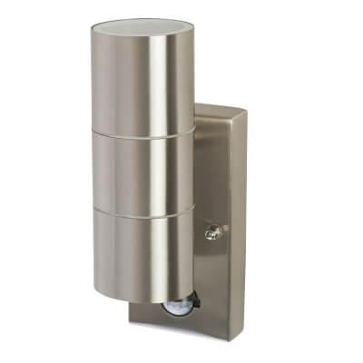 Zinc 35W GU10 Twin Light - Brushed Stainless)