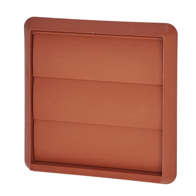 Manrose 4 Inch Wall Gravity Grill - Terracotta)
