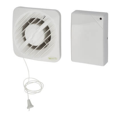 Greenwood Airvac AXS100SVIT 4 Inch Low Voltage Axial Timer Extractor Fan - Pull Cord
