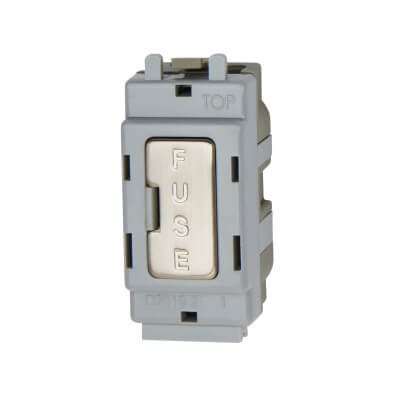 BG 13A Fused Outlet Module - Brushed Steel