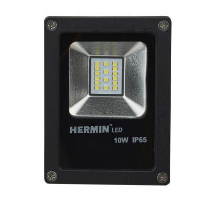 10W 6000K LED Square Mini Floodlight - Black)