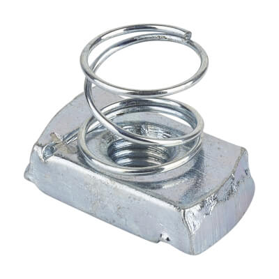 Slotted Channel Spring Nut - Short - M10 - Pack 10)
