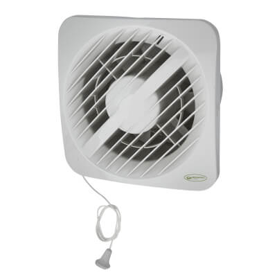 Greenwood Airvac AXSKMA 6 Inch Axial Dual Speed Humidistat Extractor Fan - Pull Cord
