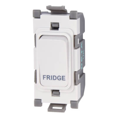 Deta 20A Printed Switch Module - Fridge - White