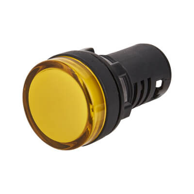 Lewden 22mm Pilot Light - Amber)
