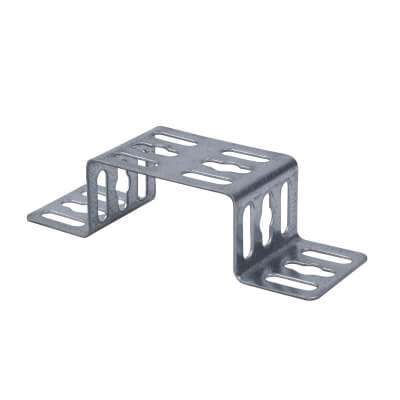 Trench Cable Tray Stand Off Bracket - Galvanised - 75mm