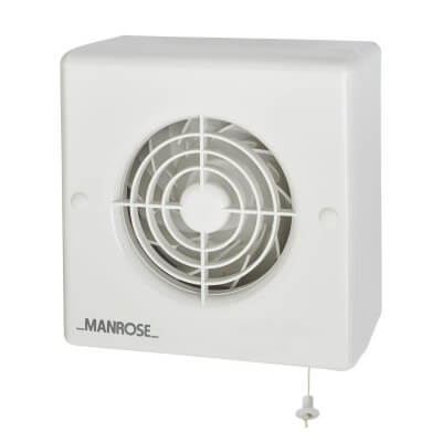 Manrose CF100P 4 Inch Centrifugal Extractor Fan with Pullcord)