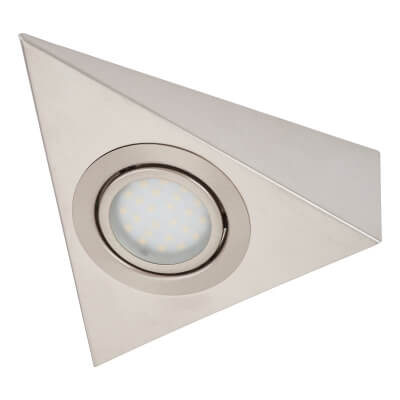Triangular LED Under Cabinet Light Kit - Satin Nickel)