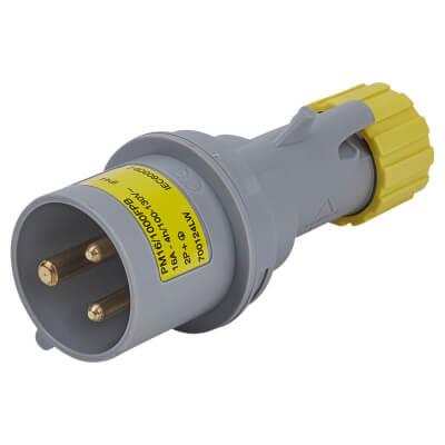 16A 2 Pin and Earth Plug - Yellow