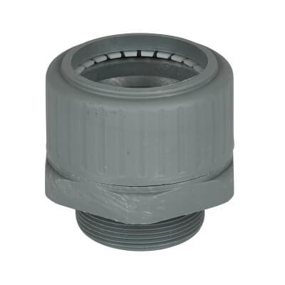 Univolt PVC Flexible Conduit Gland - 40mm - Grey)
