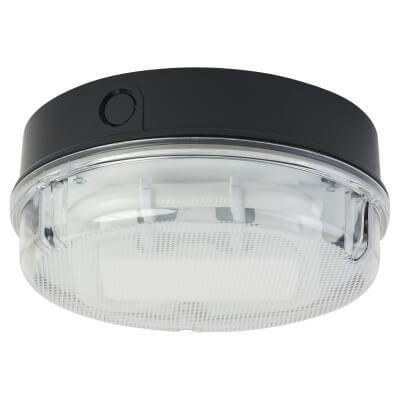 16W 2D Round Screw Drum Bulkhead Light - Black/Clear)