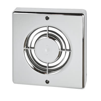 Manrose FC100C 4 Inch Extractor Fan Cover - Chrome)