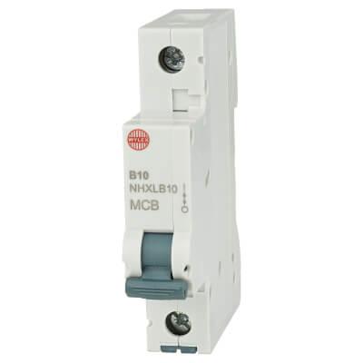 Wylex 10A NH Single Pole MCB - Type B)