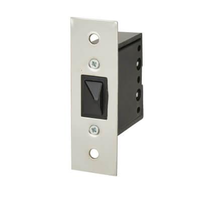 Push to Break Door Switch - Chrome