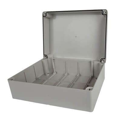Adaptable Back Box - 144mm - Off-White PVC)