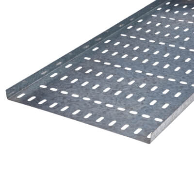 Light Duty Cable Tray - 300 x 3000mm - Galvanised)