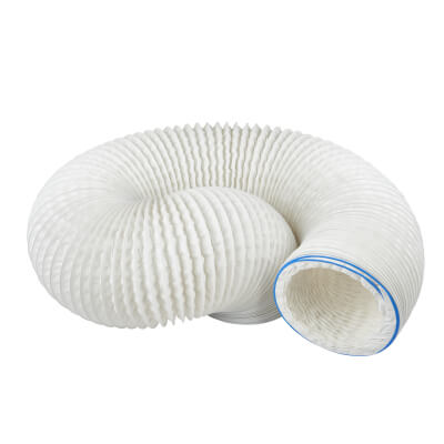Manrose 5 Inch PVC Flexible Ducting - 3m - White)