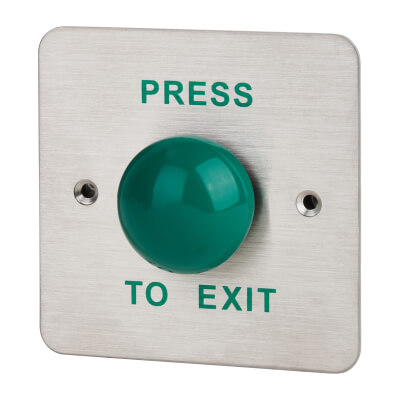 Press-to-Exit Button - Round Large - Green Button)