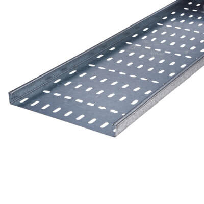Medium Duty Cable Tray - 225 x 3000mm - Galvanised)