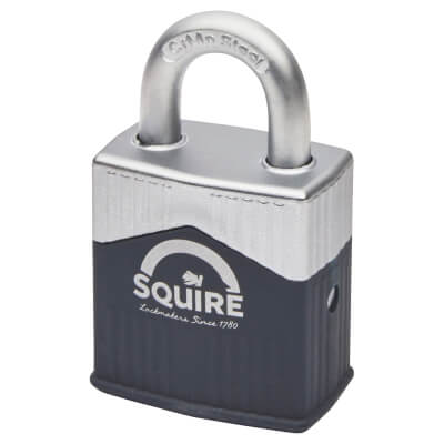 Squire Warrior Open Shackle Padlock - Keyed to Differ - 45mm