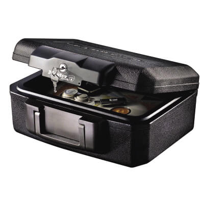 Masterlock 30 Minute Fire Rated Security Chest - 362 x 284 x 156mm - Black )