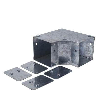 Top Lid Bend - 90° - 75 x 75mm - Galvanised)