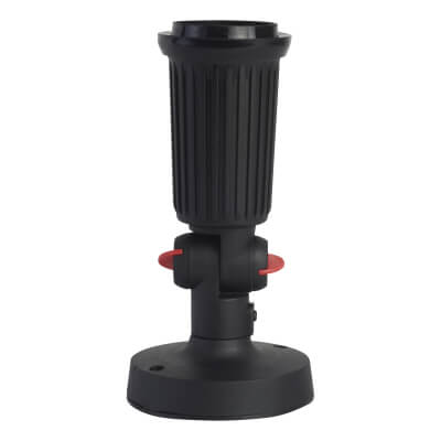 PAR38 Single Spotlight Wall Mounted - Black)