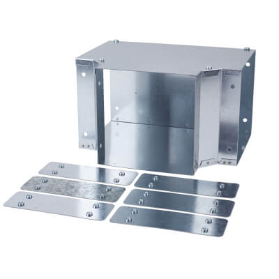 Top Lid Tee - 150 x 150mm - Galvanised)