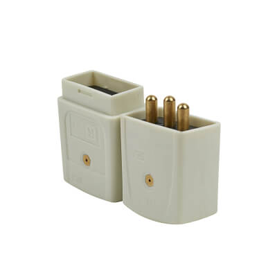 10A 3 Pin Inline Connector - White)